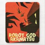 Cojín de ratón de Akamatsu de dios del robot 1 Tapete De Raton