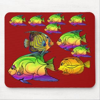Cojín de ratón de Aquaitics del Angelfish Tapetes De Ratón