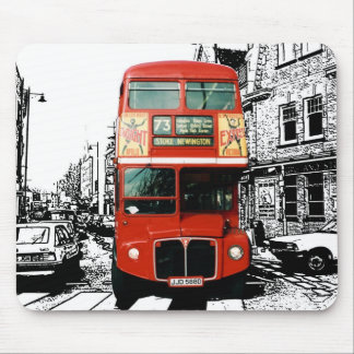 Cojín de ratón de autobús de Londres Alfombrillas De Ratón