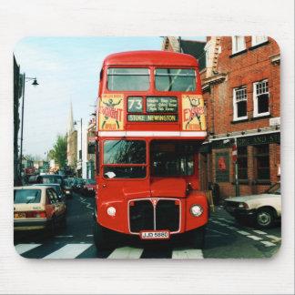 Cojín de ratón de autobús de Londres del recuerdo Mousepad