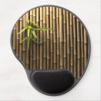 Cojín de ratón de bambú del gel de la pared alfombrilla gel