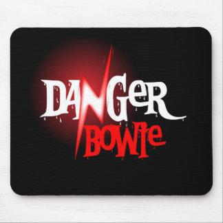Cojín de ratón de Bowie del peligro Tapetes De Raton