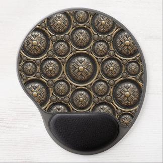 Cojín de ratón de bronce antiguo del gel del alfombrilla con gel