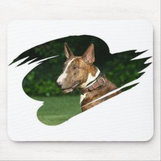 Cojín de ratón de bull terrier alfombrillas de ratón