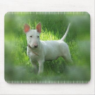 Cojín de ratón de bull terrier alfombrillas de ratones