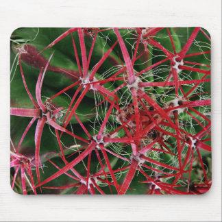 Cojín de ratón de cactus de barril tapetes de raton