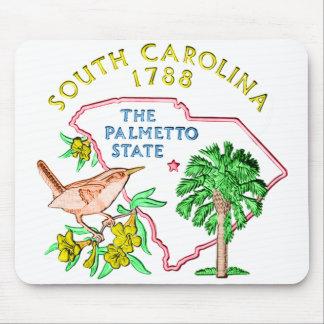 Cojín de ratón de Carolina del Sur Tapete De Ratón