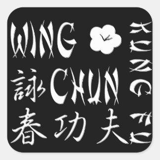 Cojín de ratón de Chun Kung Fu del ala - S1D Pegatina Cuadrada