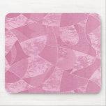 Cojín de ratón de cristal de la mancha rosada alfombrillas de ratón