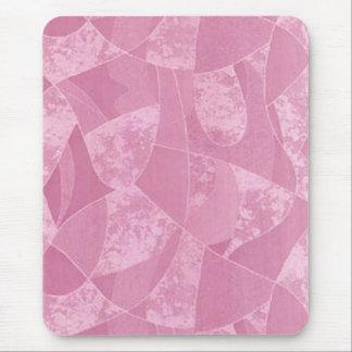 Cojín de ratón de cristal de la mancha rosada tapetes de raton