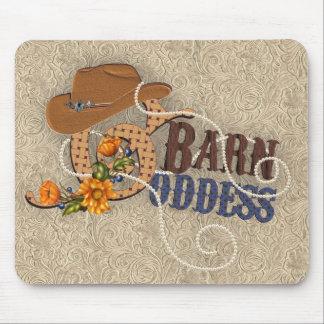 Cojín de ratón de cuero equipado diosa del granero mouse pads