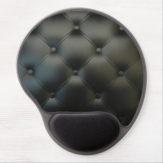 Cojín de ratón de cuero negro del gel del sofá alfombrillas con gel