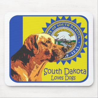 Cojín de ratón de Dakota del Sur Labrador Tapetes De Ratón