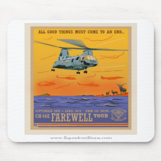 Cojín de ratón de despedida CH-46 Mouse Pad