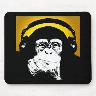 Cojín de ratón de DJ del mono Tapete De Ratón