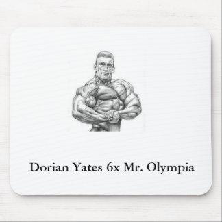 Cojín de ratón de Dorian Yates Olympia Alfombrillas De Ratón