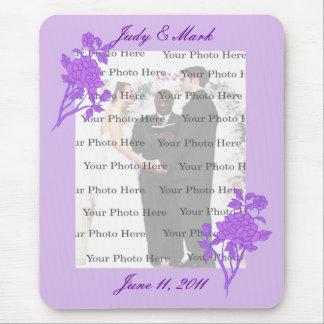 Cojín de ratón de encargo de la flor púrpura mouse pads