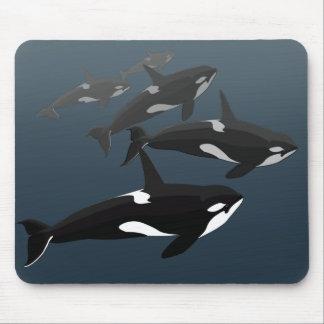 Cojín de ratón de encargo de la orca de Mousepad