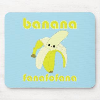 Cojín de ratón de Fanafofana del plátano de Kawaii Tapetes De Raton
