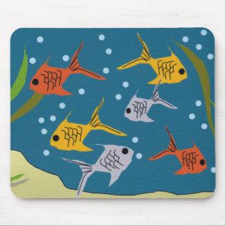 Cojín de ratón de Fishies Tapete De Raton