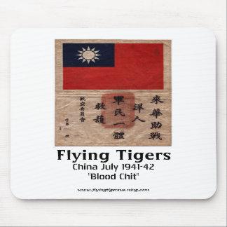 Cojín de ratón de Flying Tigers - Chit de la sangr Mouse Pads