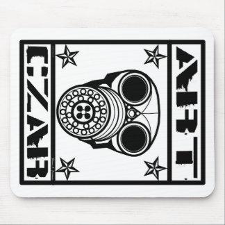 Cojín de ratón de GasMask #1 del zar del arte Tapetes De Raton