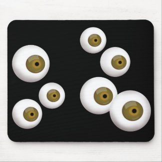 Cojín de ratón de goma del globo del ojo alfombrillas de ratones