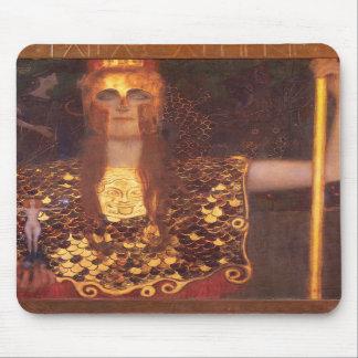 Cojín de ratón de Gustavo Klimt Minerva Pallas Ath Tapete De Raton