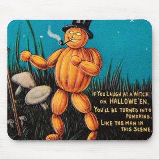 Cojín de ratón de Halloween del vintage Alfombrilla De Raton