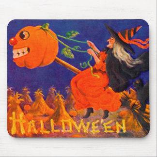 Cojín de ratón de Halloween del vintage Tapetes De Ratón