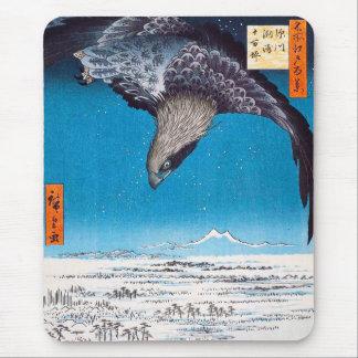 Cojín de ratón de Hiroshige Eagle Tapete De Ratones