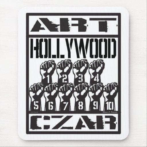 Cojín de ratón de Hollywood 10 del zar del arte Tapete De Raton
