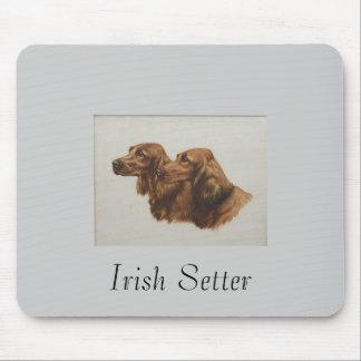 Cojín de ratón de Irish Setter Tapete De Ratón