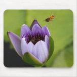 Cojín de ratón de la abeja y de la flor tapetes de raton