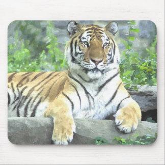 ¡Cojín de ratón de la acuarela del tigre siberiano Tapete De Raton