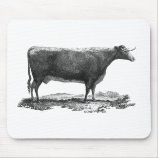 Cojín de ratón de la aguafuerte de la vaca del mouse pad