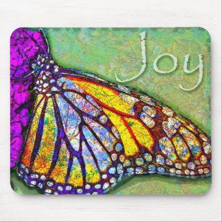 Cojín de ratón de la alegría de la mariposa alfombrilla de ratones