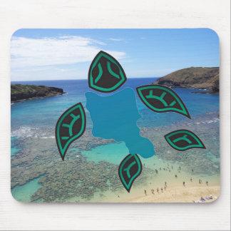 Cojín de ratón de la bahía de Hawaii Hanauma Tapete De Ratón