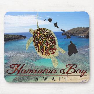 Cojín de ratón de la bahía de Hawaii Hanauma Tapetes De Ratón