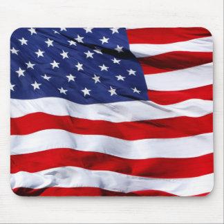 Cojín de ratón de la bandera americana tapete de ratón
