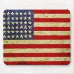 Cojín de ratón de la bandera americana tapetes de ratón