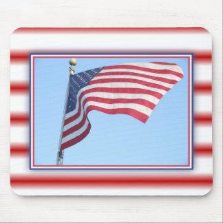 Cojín de ratón de la bandera de América Alfombrilla De Raton