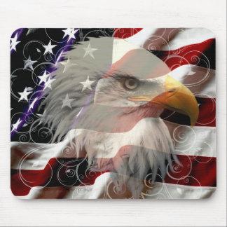 Cojín de ratón de la bandera de American Eagle Alfombrillas De Ratón