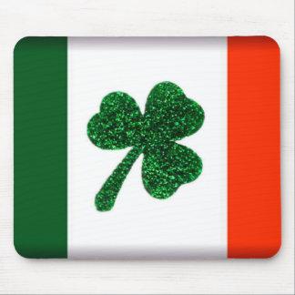 Cojín de ratón de la bandera del trébol de Irlanda Alfombrillas De Raton