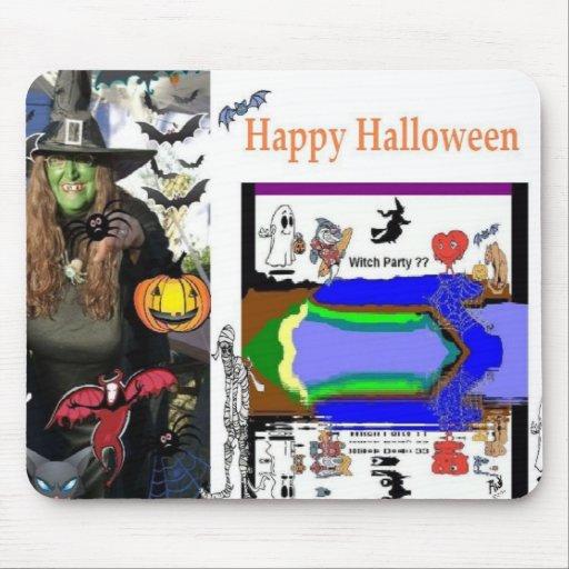 Cojín de ratón de la bruja de Halloween Alfombrilla De Ratones