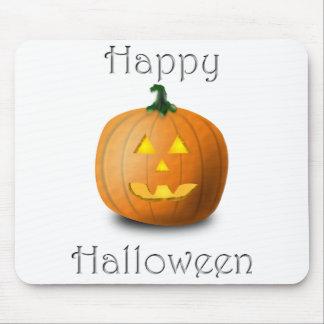 Cojín de ratón de la calabaza del feliz Halloween Tapete De Raton