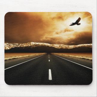 Cojín de ratón de la carretera de la libertad tapetes de ratón