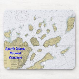 Cojín de ratón de la carta del nacional de las isl tapetes de raton