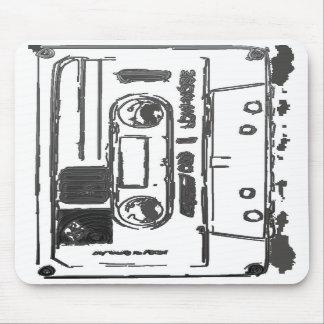 Cojín de ratón de la cinta de casete alfombrillas de ratones