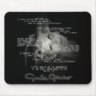 Cojín de ratón de la cita de Greta Garbo Alfombrilla De Ratón